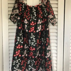 BB dakota embroidered floral holiday dress